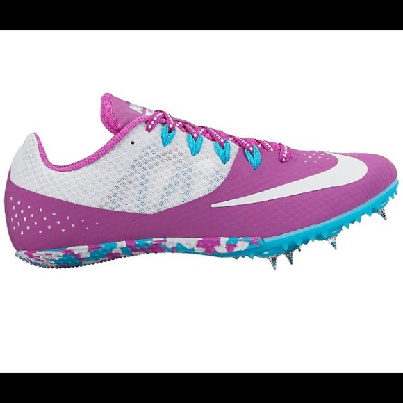 Nike Zoom Rival S white purple sprint track shoes